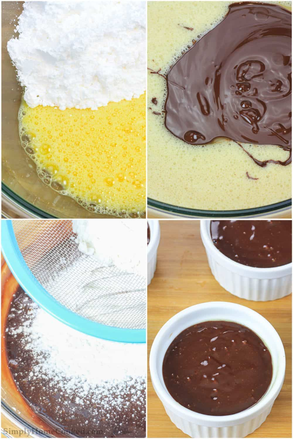 steps to make chocolate lava cake