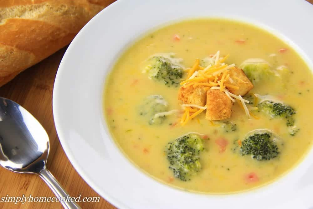 Simply Homecooked – Broccoli Cheddar Soup