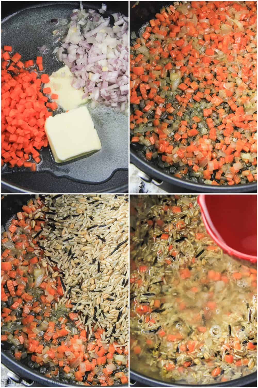 wild brown rice step by step pictures