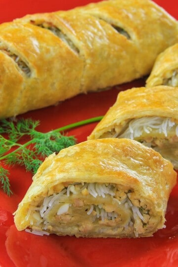 Simple Chicken Puff Pastry Roll Simply Home Cooked