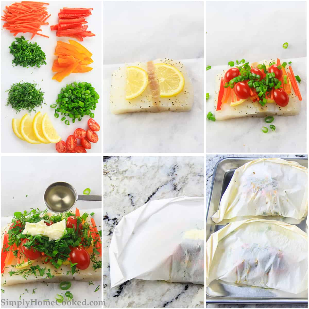 How to make baked cod and roasted vegetables - step by step pictures