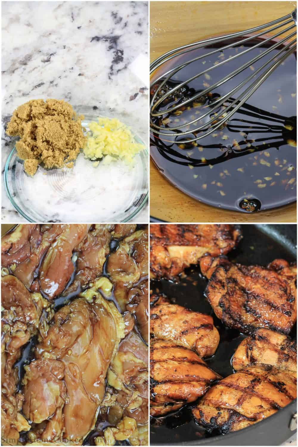 Step by step pictures showing you how to make teriyaki chicken.