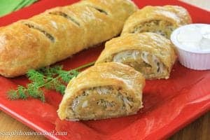 Puff Pastry Chicken Roll