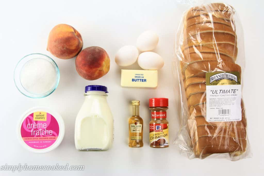 peach french toast ingredients
