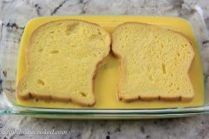 dredging bread in eggs