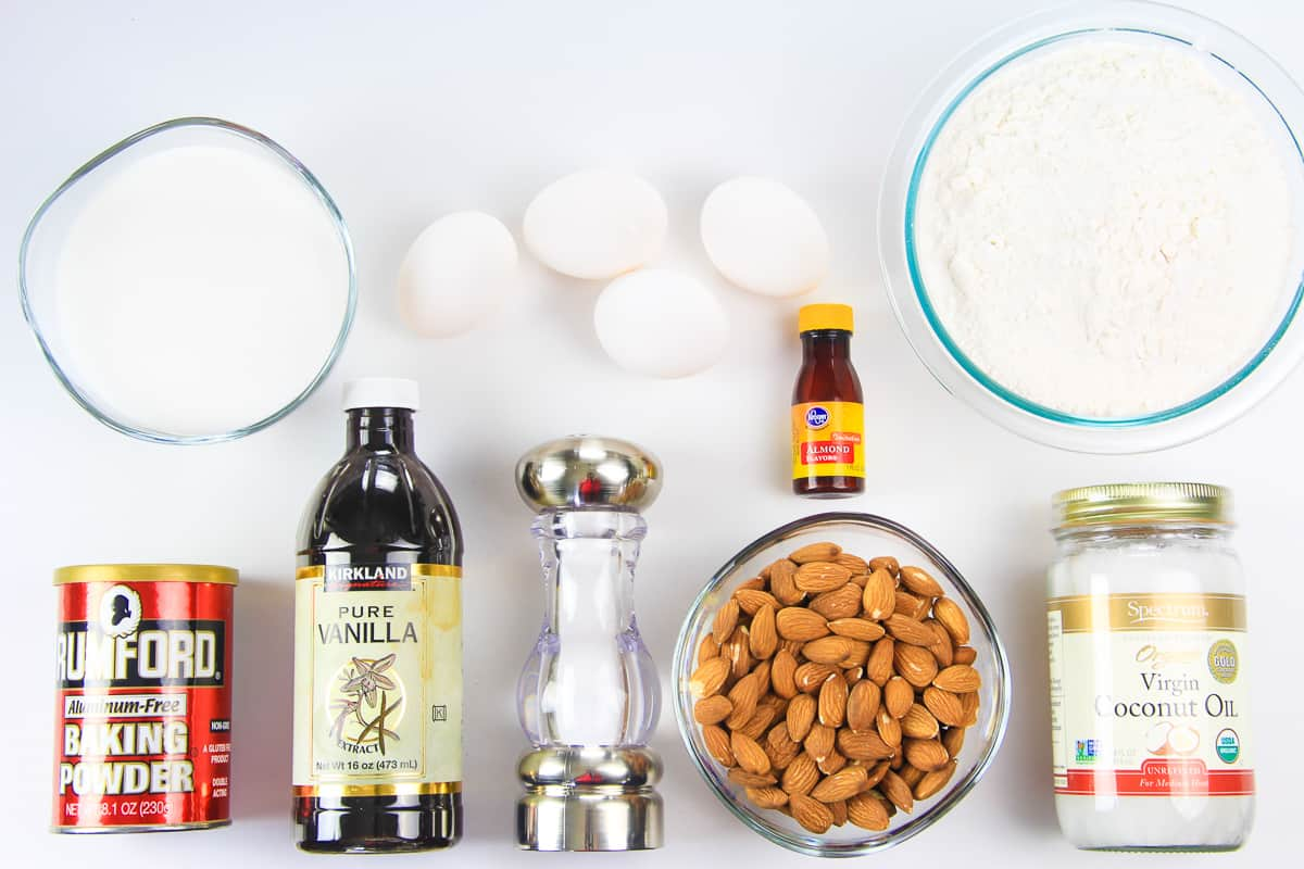 ingredients for mini almond biscotti