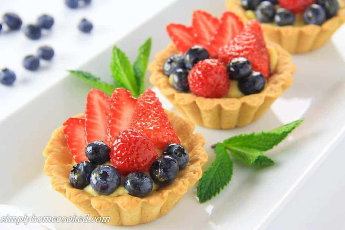 mini fruit tarts fruit slice