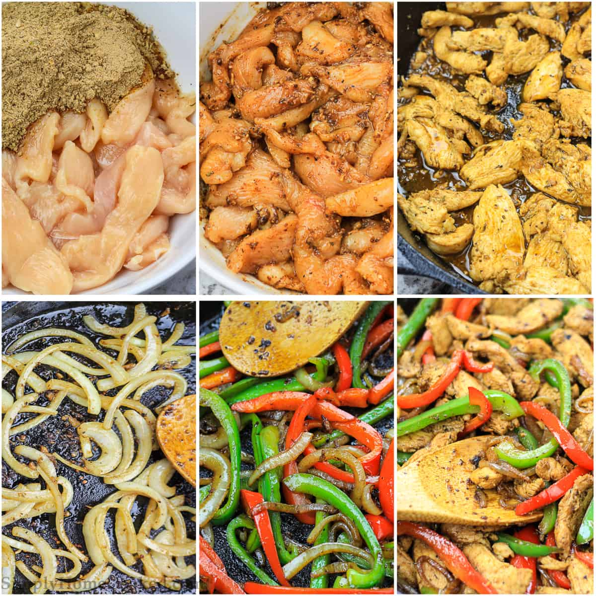 steps to make easy chicken fajitas