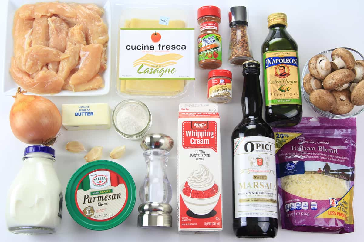 Chicken Cannelloni Ingredients