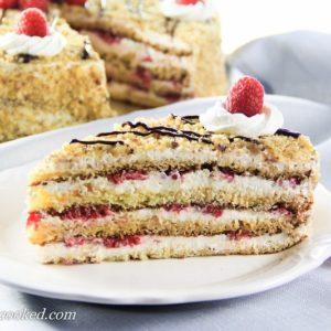 Layered Raspberry Cake