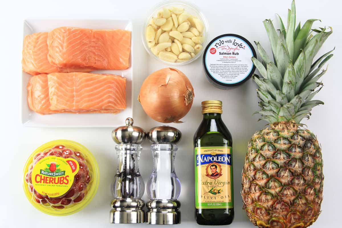 ingredients for pineapple salmon