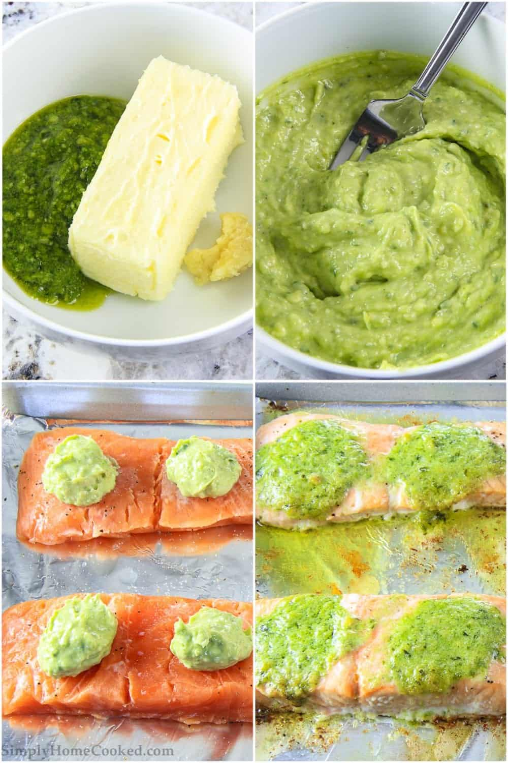 steps to make easy pesto salmon