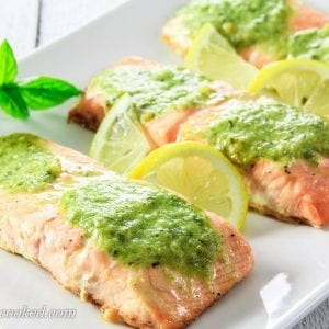 Butter Pesto Salmon