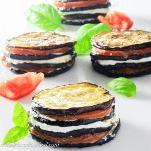 Eggplant Napoleon with tomatoes