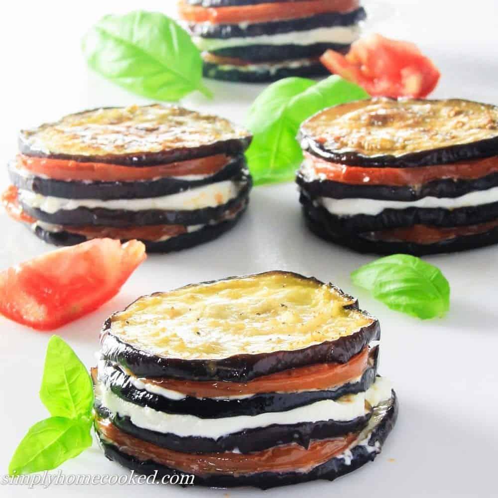 Eggplant Napoleon with tomatoes