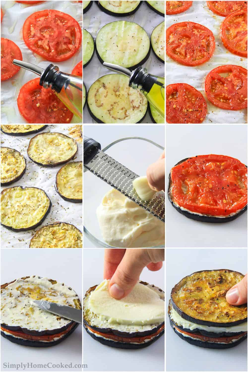 steps to make eggplant napoleon