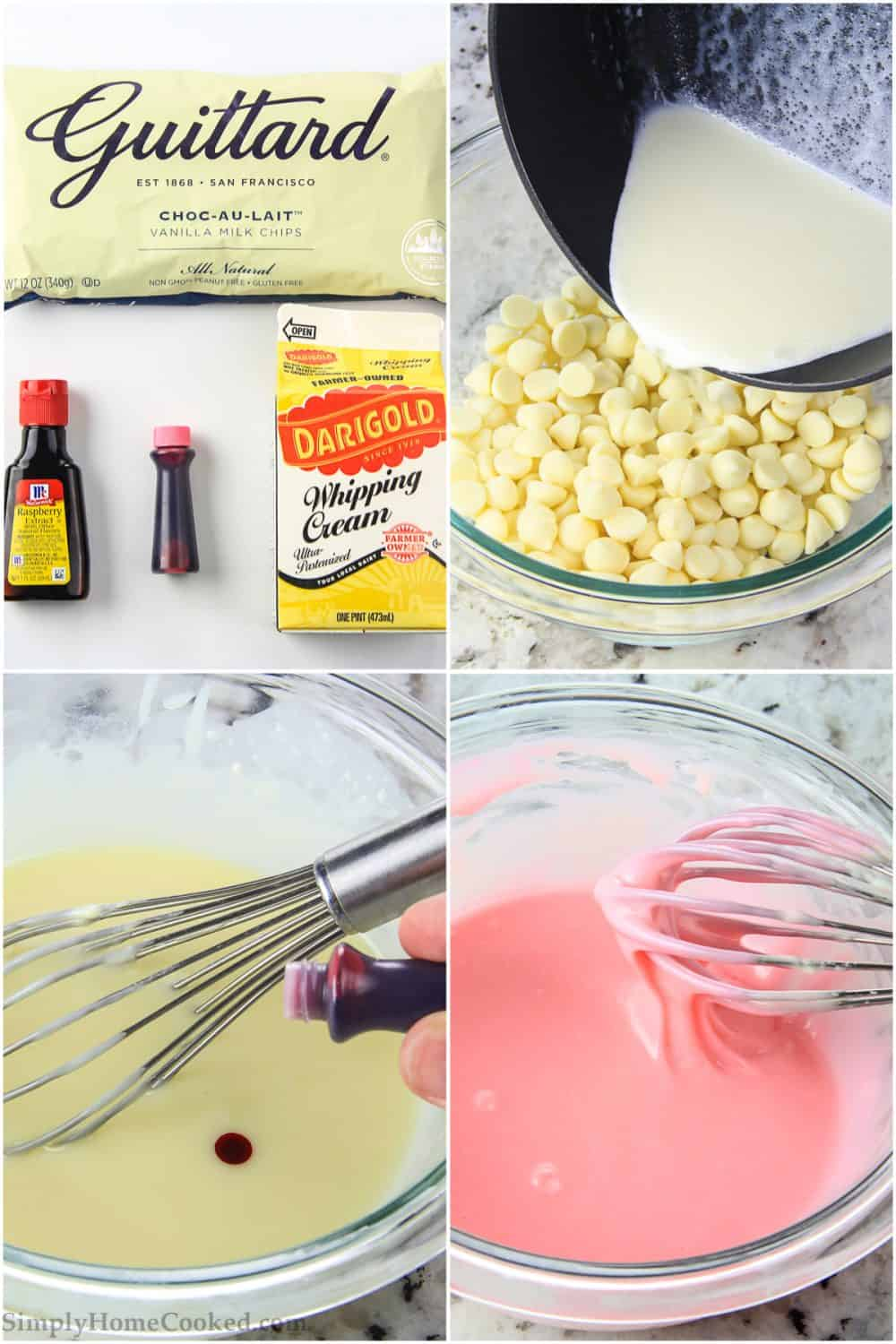 steps to make pink what chocolate raspberry ganache