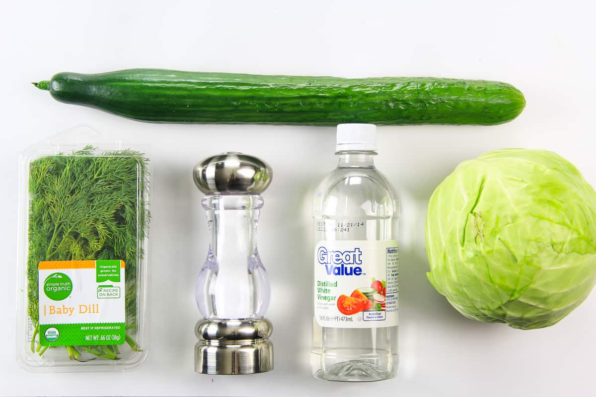 cabbage and cucumber salad ingredients