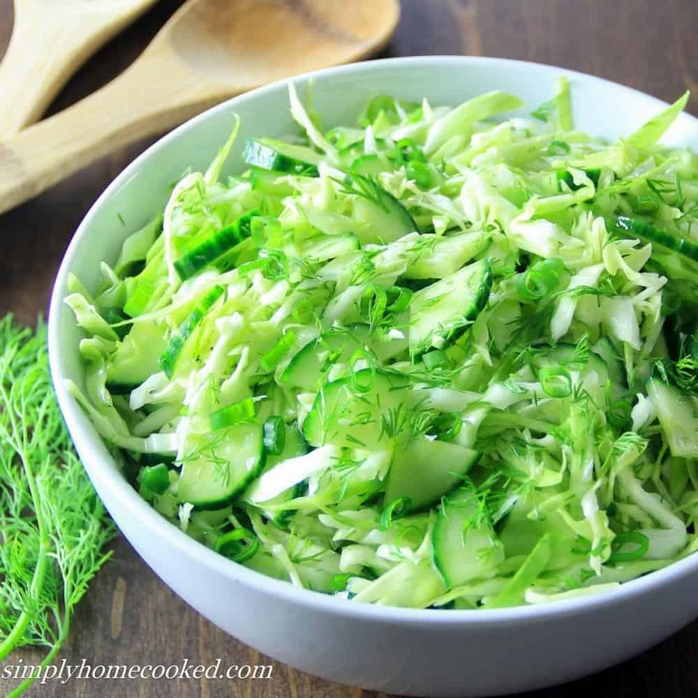 Салат с капустой и огурцом рецепт