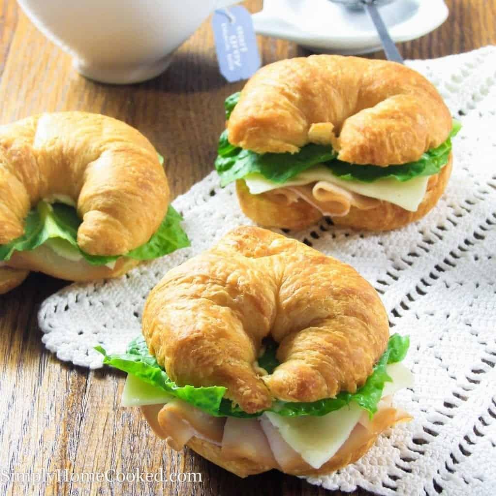 Turkey Croissant Sandwiches