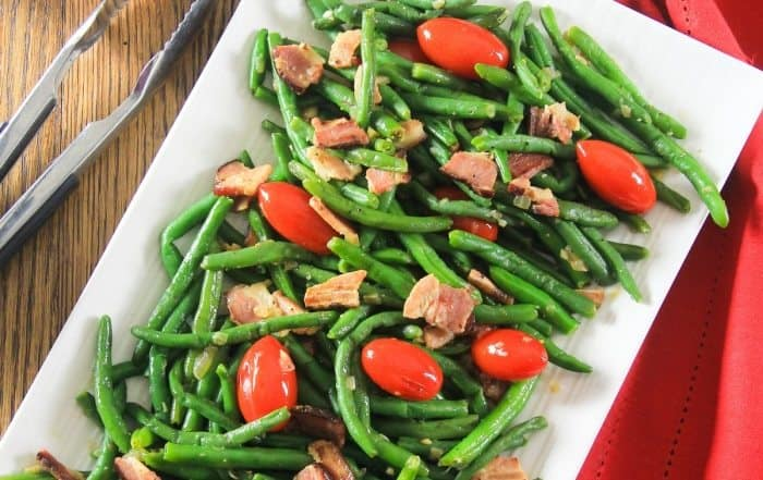 Green bean salad with bacon-11