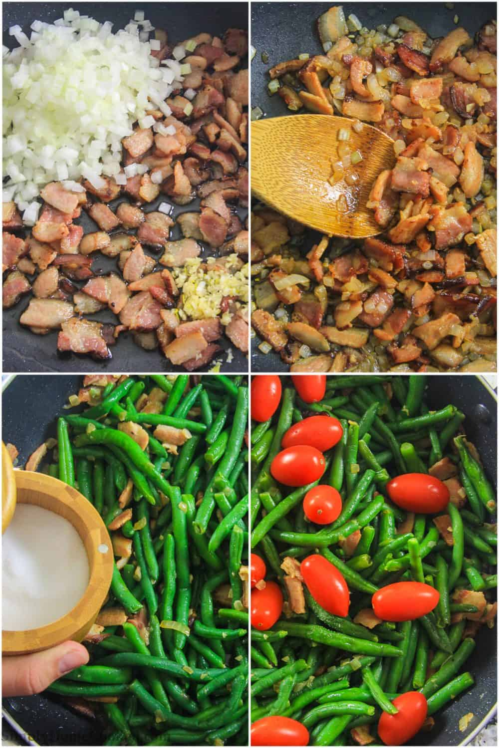 green bean salad step by step pictures