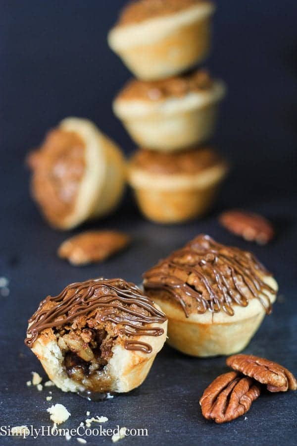 Mini Pecan Chocolate Pies