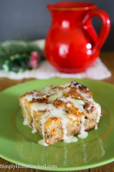 Bread Pudding with Vanilla Rum Sauce-29