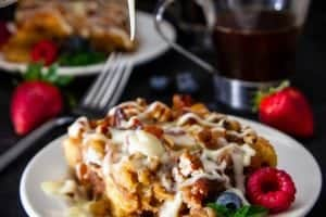 Bread Pudding with Vanilla Rum Sauce