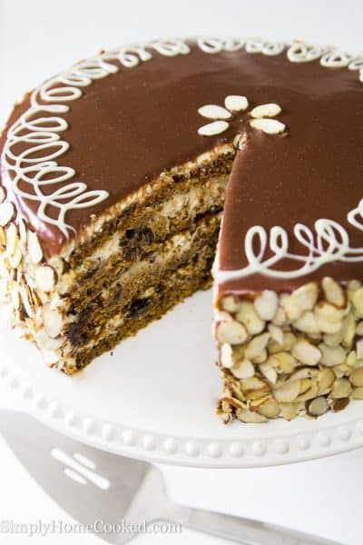 Royal Honey Cake with Plums-19