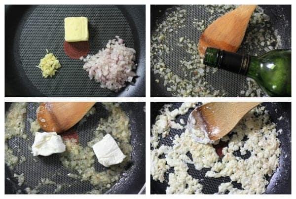 onion in a frying pan