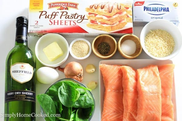ingredients for salmon wellington