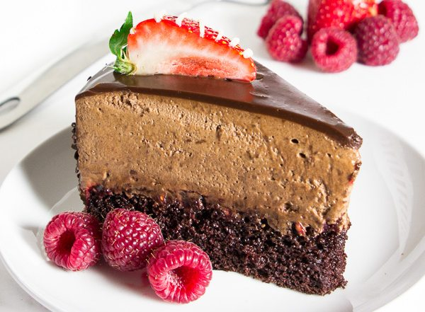 Chocolate raspberry mousse cake-43