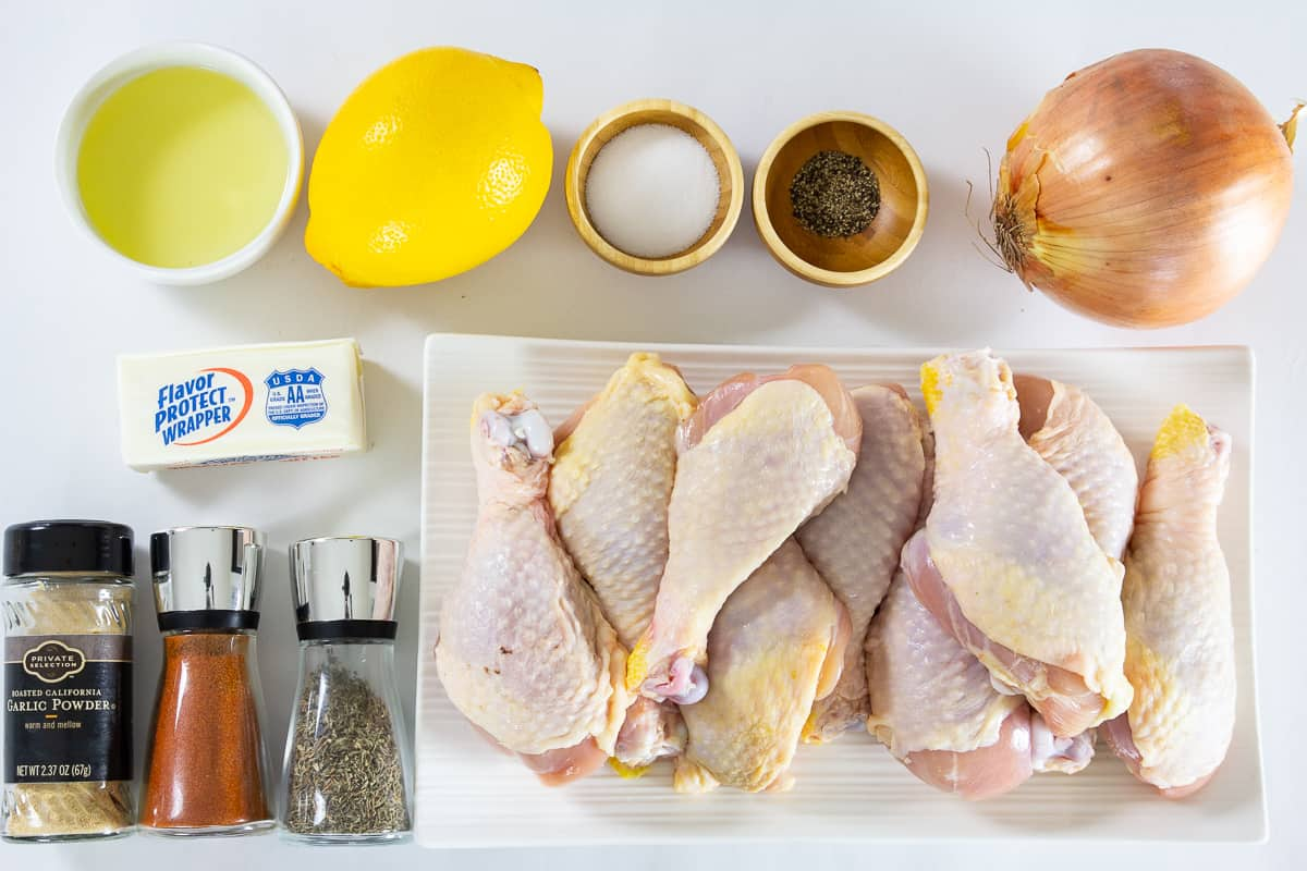Ingredients needed to make baked lemon chicken