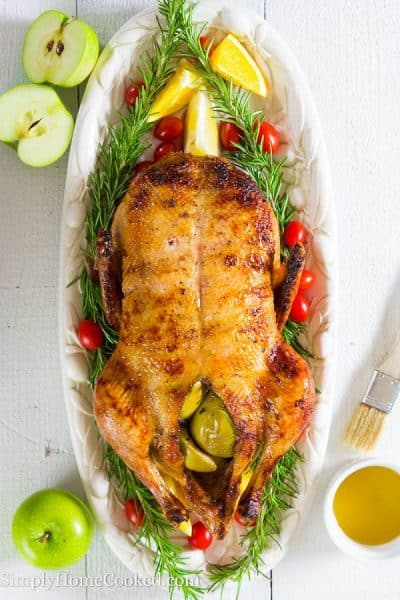 Duck stuffed with apples-17