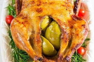 Roast Duck Stuffed with Apples