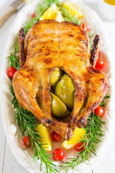 Duck stuffed with apples-24