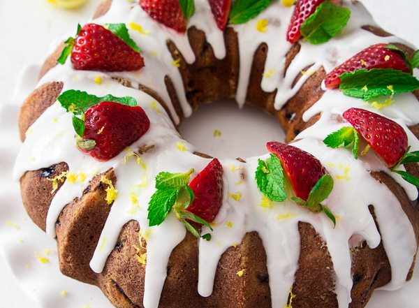 Strawberry Bundt Cake-23