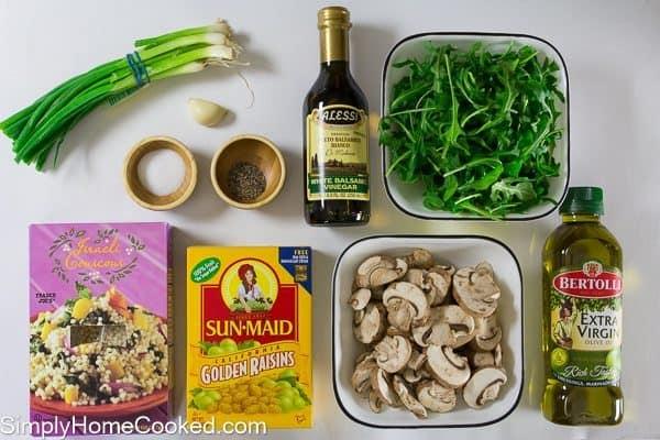 couscous and arugula salad