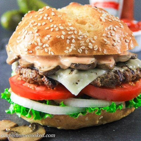 homemade beef burger simply home cooked. Black Bedroom Furniture Sets. Home Design Ideas