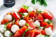 Chopped Caprese Salad in a bowl
