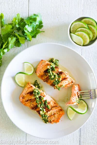 Grilled Cilantro Lime Salmon 3-3