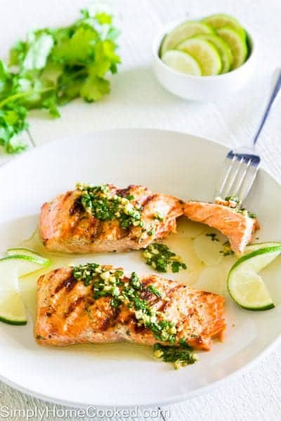 Grilled Cilantro Lime Salmon 3-5