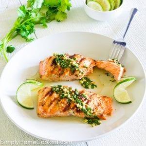 Grilled Cilantro Lime Salmon