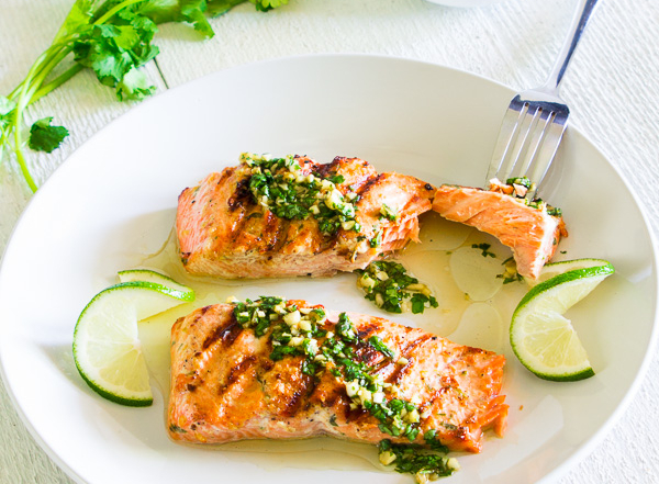Grilled Cilantro Lime Salmon 3-6