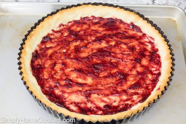 Raspberry almond tart-16