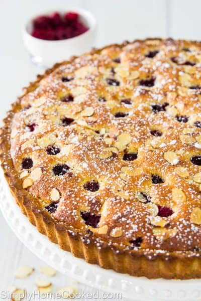Raspberry almond tart-21