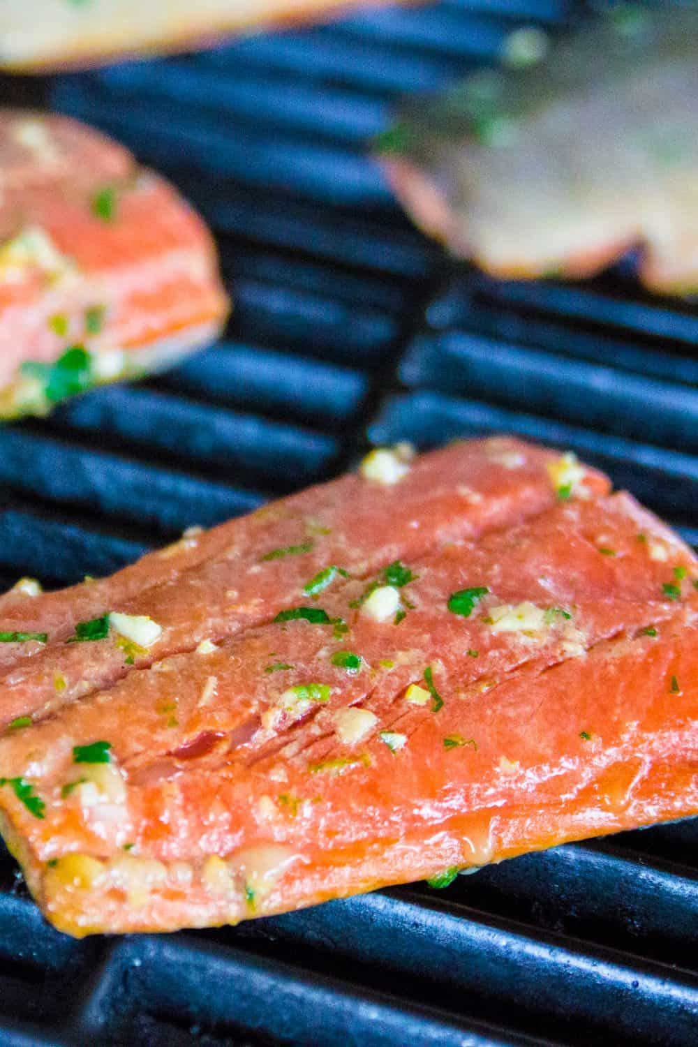 cilantro lime salmon on the grill