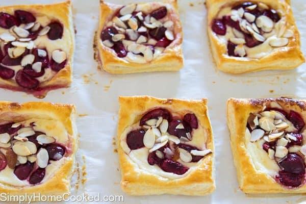 Mini cherry cheese danishes-17