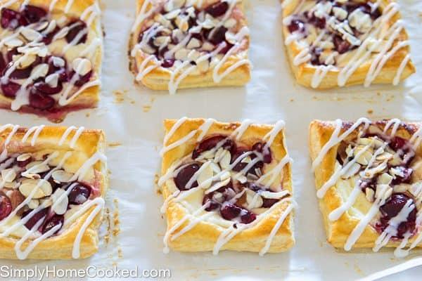 Mini cherry cheese danishes-18